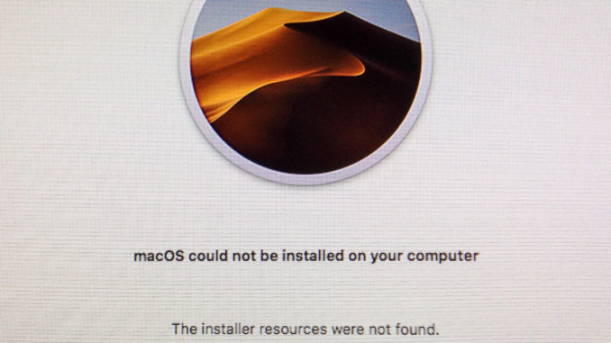 macOS could not be installed on your computer' error when installing