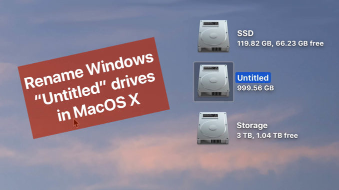 How to rename a Windows Drive that appears as Untitled in