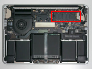 "MacBook Pro 13"" SSD Location"