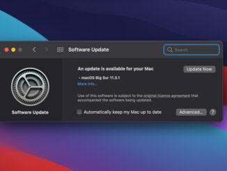 Big Sur 11.3.1 update